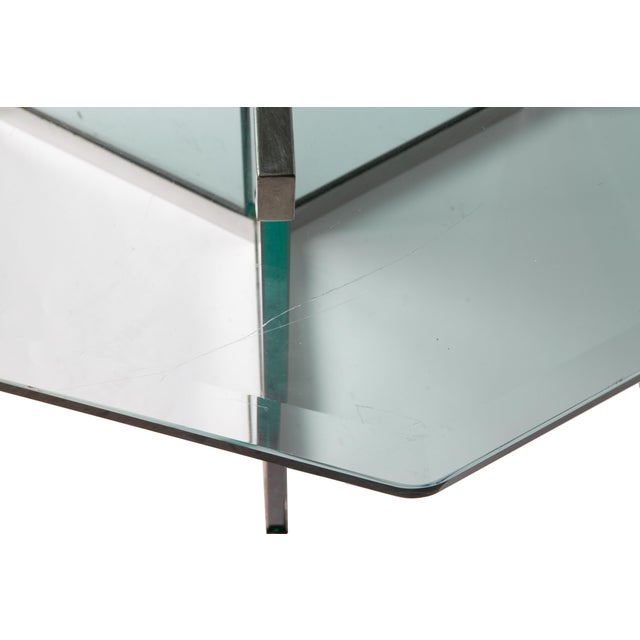 Pace Collection Leon Rosen Classic Design Chrome Base Dining Table for Pace Collection For Sale - Image 4 of 11
