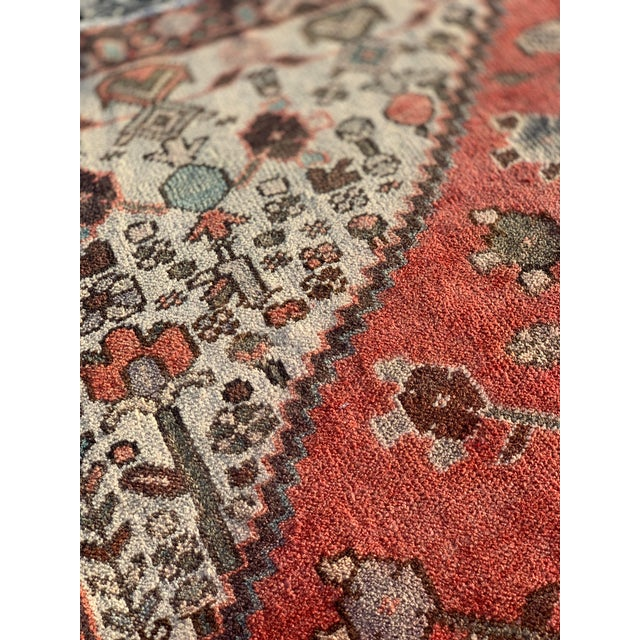 Textile 1960s Vintage Persian Hamadan Rug - 4′5″ × 6′6″ For Sale - Image 7 of 13