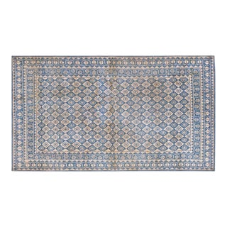 1920s Traditional Blue and White Cotton Rug - 4'x7' For Sale