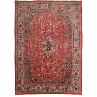 Hand-Knotted Persian Mahal Rug - 9′10″ × 13′1″ For Sale