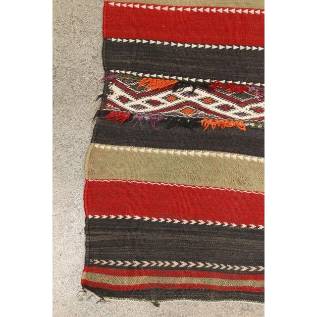 Islamic Vintage Moroccan Tribal Kilim Rug North Africa For Sale - Image 3 of 10