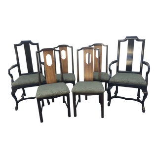 Mid-Century Lane Furniture Dining Chairs- Set of 6 For Sale