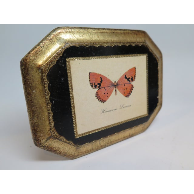 Wood Butterfly Plaque Hanging Decopage Style For Sale - Image 7 of 12
