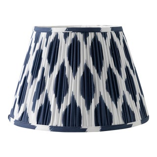 "Signature Ikat in Navy 12"" Lamp Shade, Navy Blue"