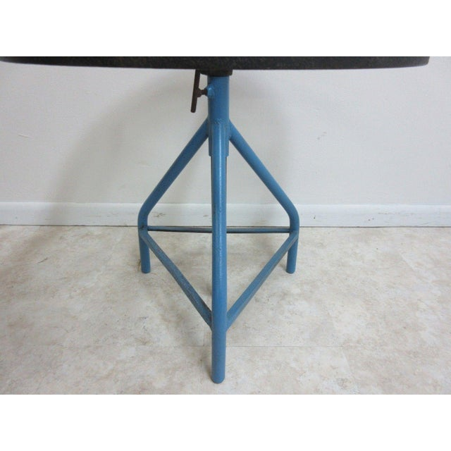 Antique Industrial Gear Metal Tripod Lamp End Table Stand For Sale - Image 4 of 11