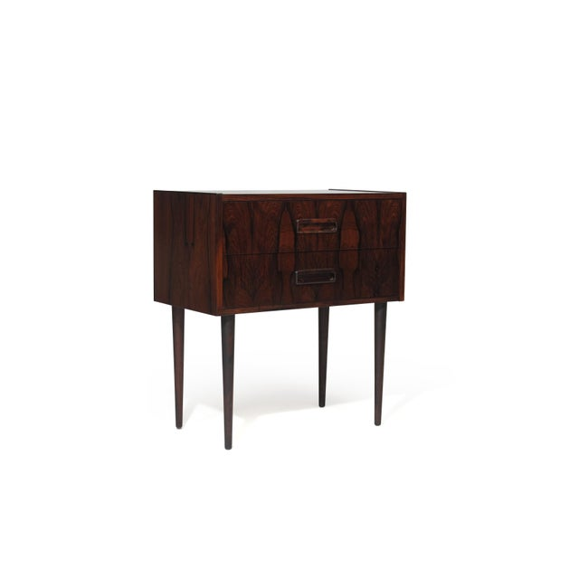 Danish Modern Danish Rosewood Nightstand Bedside Tables With Drawers - a Pair For Sale - Image 3 of 9