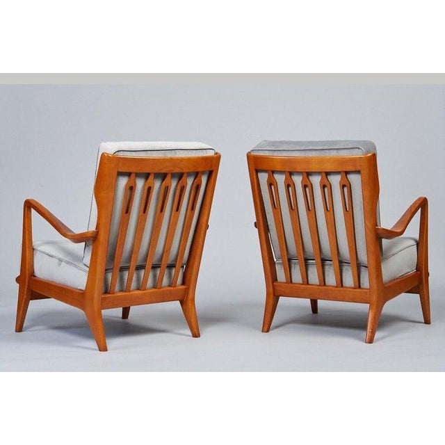 1950s Vintage Gio Ponti Exquisite Pair of Sculptural Armchairs- A Pair For Sale In New York - Image 6 of 11