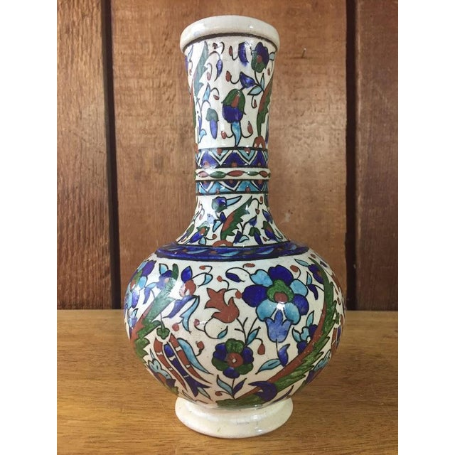 Middle Eastern Hand-Painted Glazed Pottery For Sale - Image 11 of 11