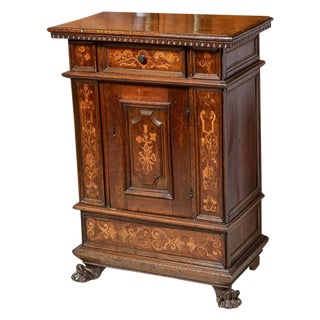 Italian Cabinet With Inlay For Sale