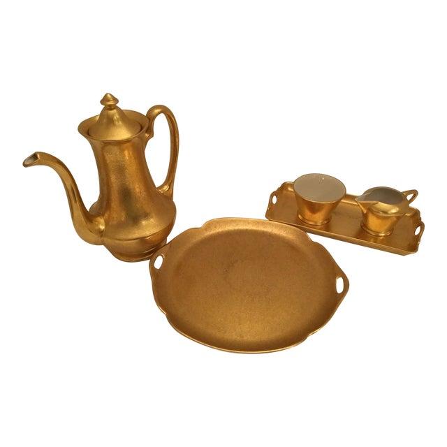 Gold Pickard Tea Service For Sale