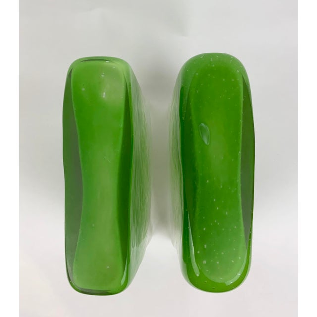 Henry Dean Rectangular Glass Vases - a Pair For Sale - Image 9 of 13
