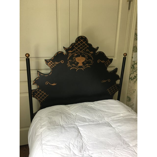 Black Traditional Headboards - a Pair For Sale - Image 8 of 9