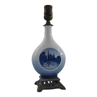Royal Copenhagen Blue & White Porcelain Table Lamp