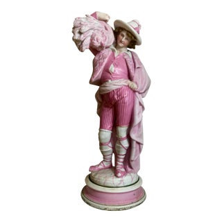 Stable Boy in a Pink Suit Figurine For Sale