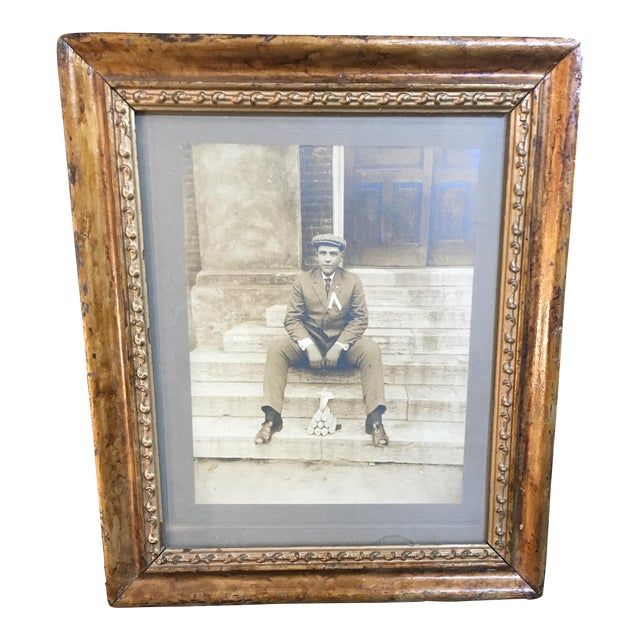 Vintage Framed Photograph of Man, Circa 1920 - Image 1 of 3