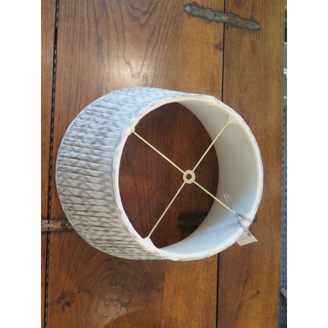 """Pair of custom 18"""" Maison Maison gathered empire lampshades in Maison Maison Textiles. We can make custom lampshades of..."""