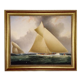"""Mayflower Leading Galatea"" Contemporary Nautical Reproduction Print, Framed For Sale"