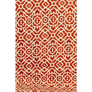 Waverly Red Cotton Fabric For Sale