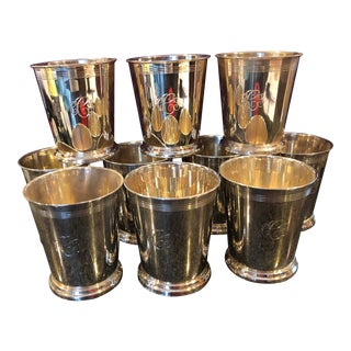 Reed and Barton Sterling Mint Julep Monogrammed Cups - Set of 10 For Sale