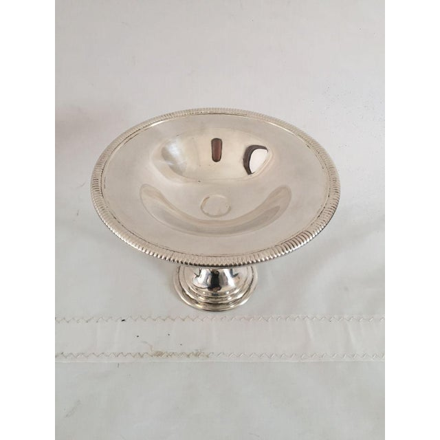 Silver Plate Compote Dish For Sale - Image 4 of 5
