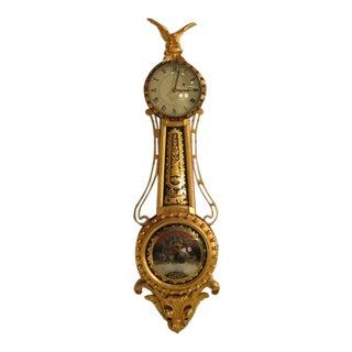 Elmer Stennes Handmade Mahogany Banjo Clock
