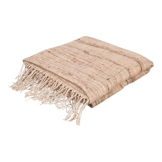 Khadi Hand Spun Silk/Cotton Throw by Monsoon For Sale