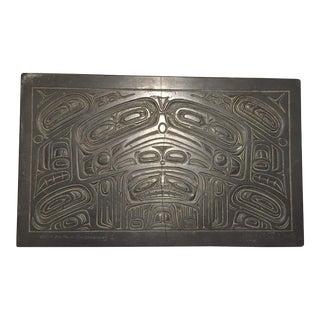 Joseph Illig Northwest Coastal Hand Carved Stone Plaque For Sale