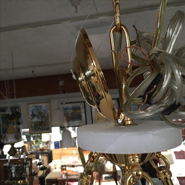 Polished Brass & Alabaster Chandelier - Image 10 of 10