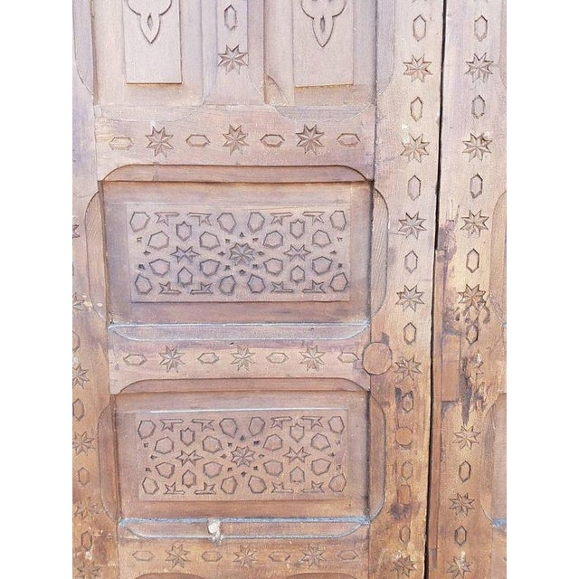 Moroccan Carved Cedar Wood Doors A Pair Chairish