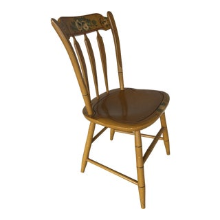 Vintage Mid-Century L. Hitchcock Connecticut House Collection Side Chair For Sale