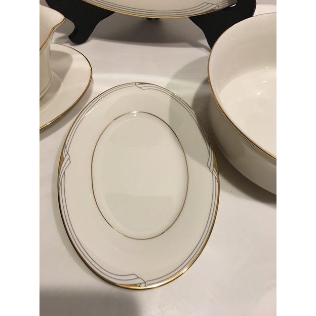 American Classical Noritake Golden Cove Dinnerware - 64 Pc. Set For Sale - Image 3 of 11