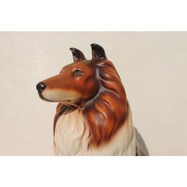 1960s Mid-Century Glazed Ceramic Dog Sculpture For Sale - Image 5 of 12