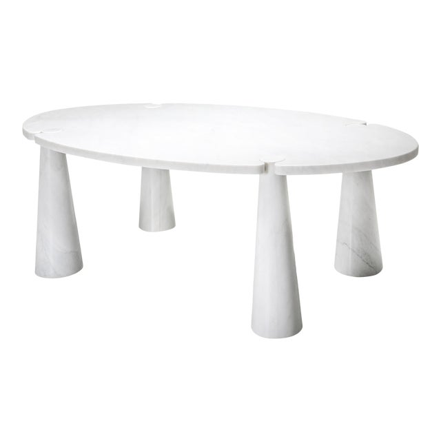 Carrara Marble Dining Table by Angelo Mangiarotti - 1970s For Sale