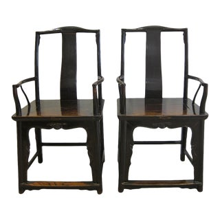19th Century Chinese Official Hat Chair For Sale