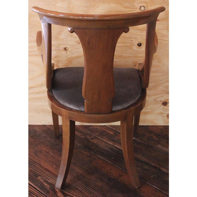 """Textile Empire """"Chaise en Gondole"""" Fruitwood Baker Dining Chairs - Set of Four For Sale - Image 7 of 8"""