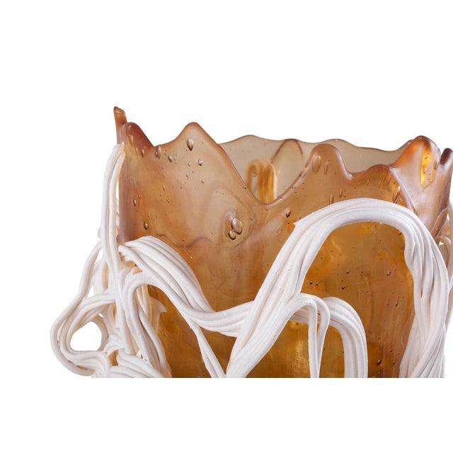 1990s Gaetano Pesce Orange & White Resin Vase For Sale - Image 5 of 9