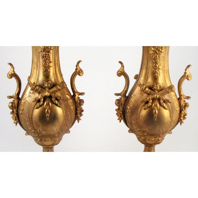 French Gold Gilt Urn Garniture Vases - A Pair - Image 4 of 9