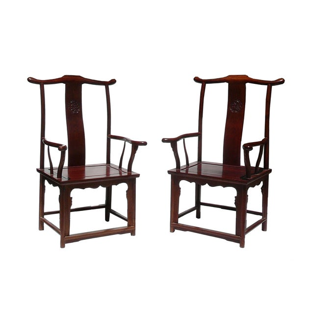 This is a pair of decorative chairs for home decoration and heritage collection. Its style is simple, but the chair...