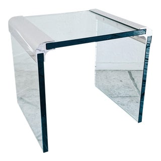 1970s Pace Collection Glass Side Table For Sale