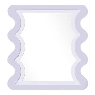 Fleur Home x Chairish Carnival Mystic Rectangle Mirror in Spring Iris, 24x36 For Sale