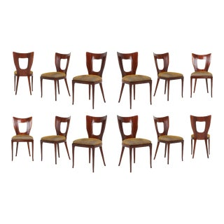 Osvaldo Borsani Dining Chairs in Mahogany - 1950s For Sale