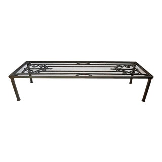 Vintage Iron Gate Coffee Table For Sale