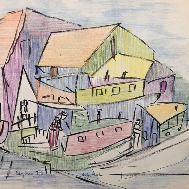 Helen Wagner Malta (1912-1975) worked in New York City in the 1930s, teaching at the Harlem Art Center and working on the...