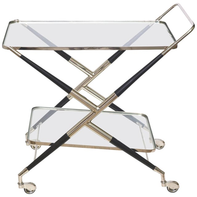 Italian Cesare Lacca Midcentury Bar Cart For Sale