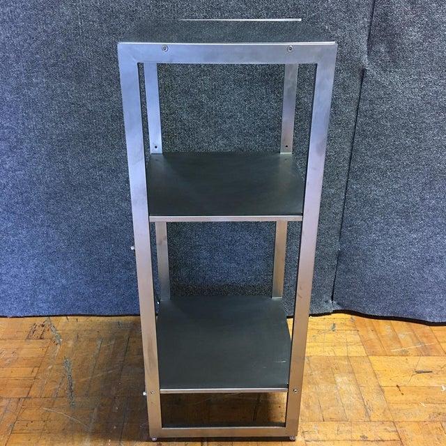 Sleek Silver Metal Shelf - Image 7 of 8
