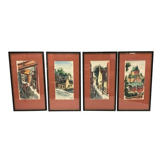 Mid Century Modern Quebec Canada Paintings 4 For Sale