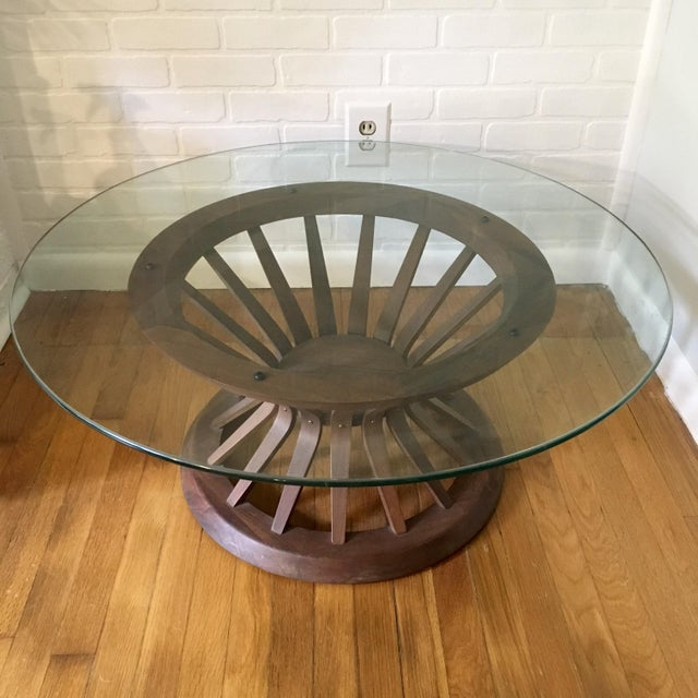 Mid-Century Modern Edward Wormley Style Sheaf of Wheat Coffee Table For Sale - Image 3 of 12