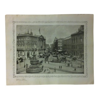 """1906 """"Piccadilly Circus"""" Famous View of London Print For Sale"""