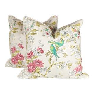 Chinoiserie Bird Pillows - A Pair