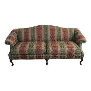 Queen Anne Style Camelback Chippendale Sofa